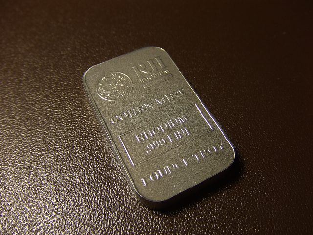 Buy Palladium Behold 1 Oz Rhodium Bullion In My Hands