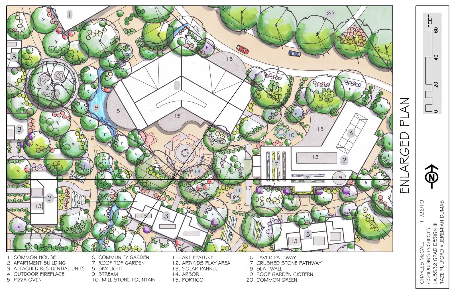 Poptart Nation Cohousing Community Enlarged Plan