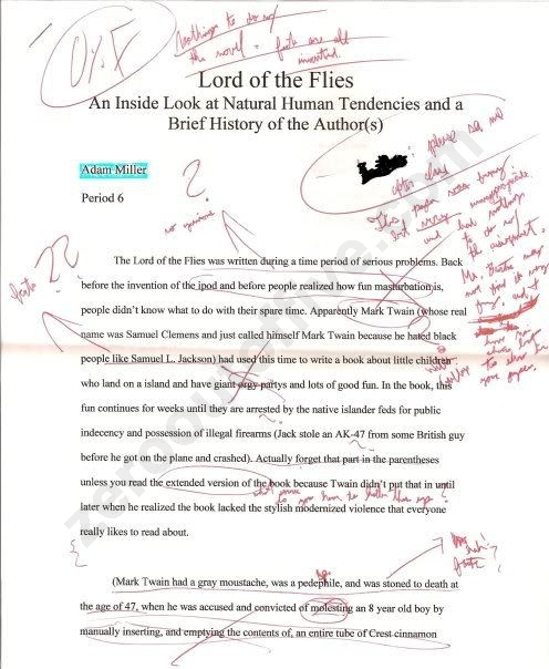 Funny lord of the flies essay