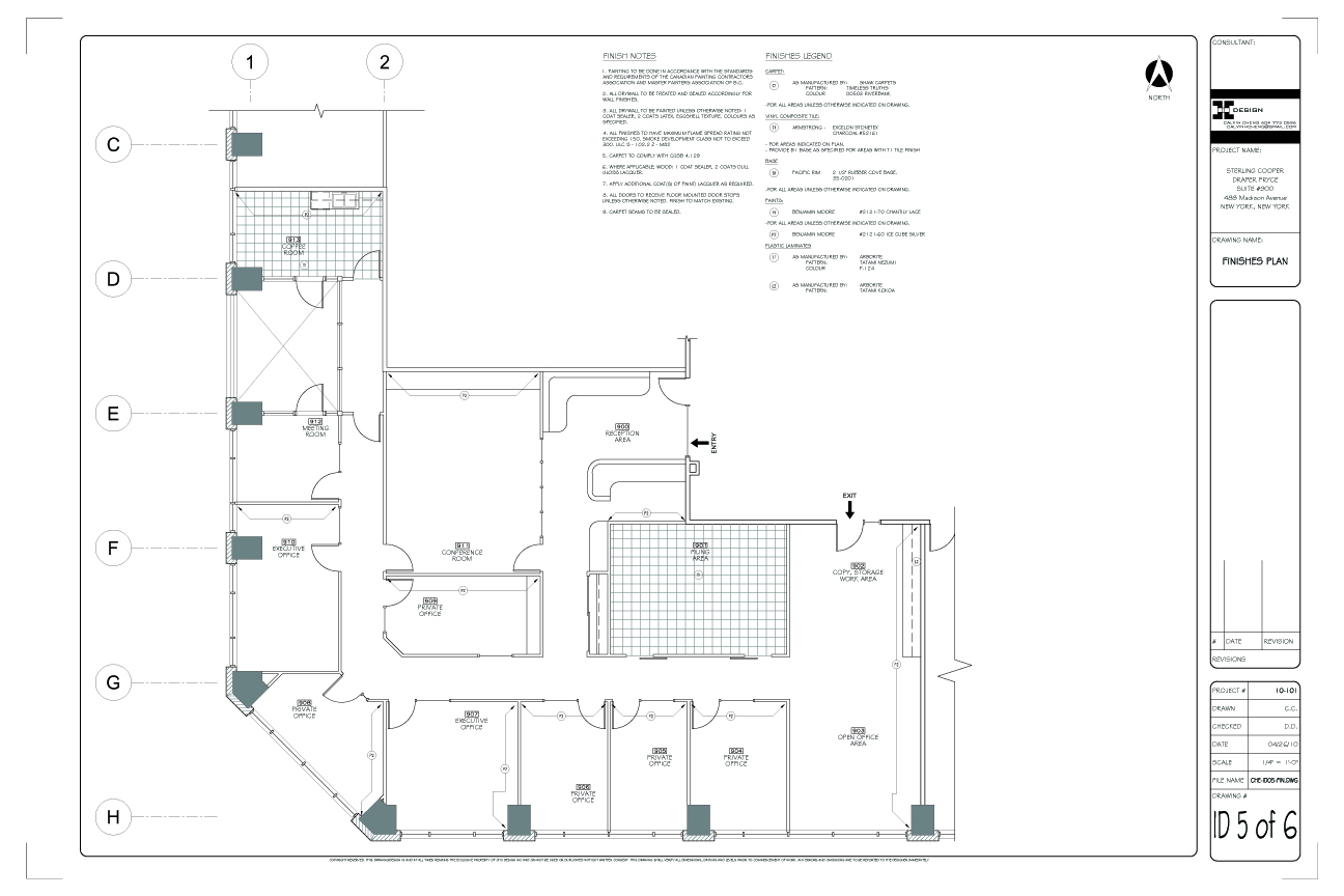Office Layout Template in AutoCAD