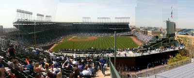 wrigley field rooftop view