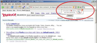 recommending yahoo search in firefox
