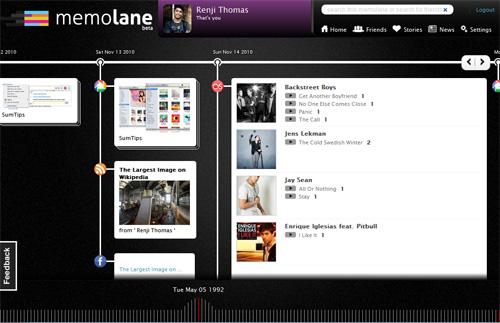 Memolane Timeline