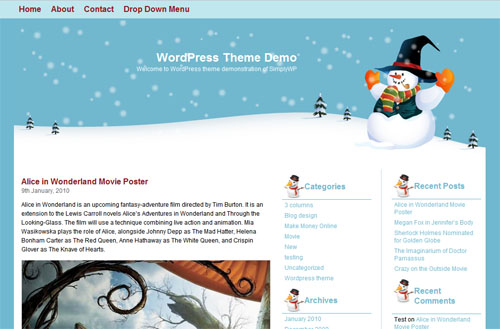8 WordPress Christmas Themes