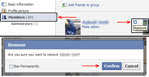 Facebook Group Member Delete