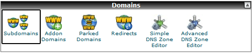 Subdomain Option in CPanel