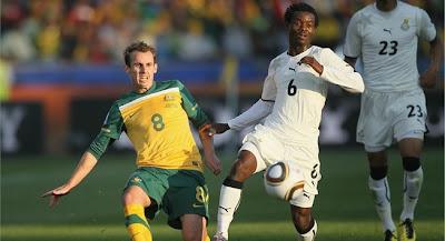Ghana empata con Australia