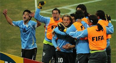 Uruguay clasificado a la semifinal del Mundial