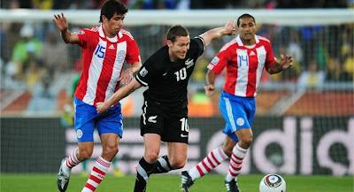 Paraguay empata con Nueva Zelanda