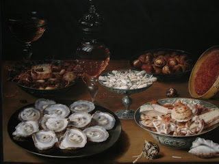 Osias Beert the Elder, Dishes with Oysters, Fruit, and Wine, National Gallery of Art