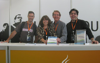 Chris Webster, Gail Anderson, Paul Anderson, & Todd Fast at zembly book signing (JavaOne)