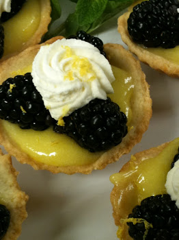 Fresh Lemon & Blackberry Tarts