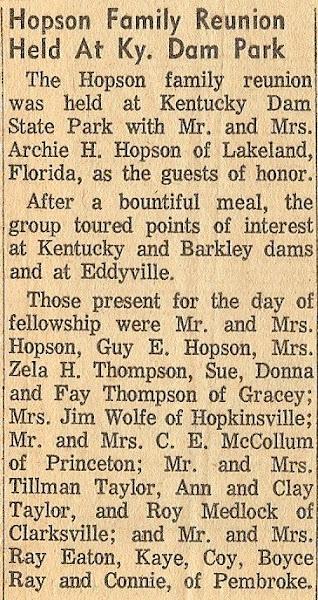 July 1959, Hopson Reunion