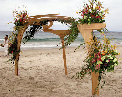Recently Cerno was asked to build a wedding arbor for two of our good