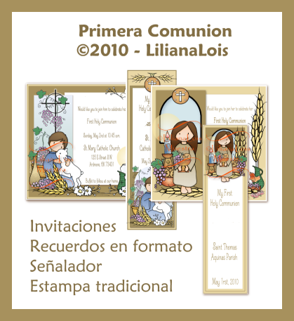 Invitaciones y señaladores primera comunion First Holy Communion