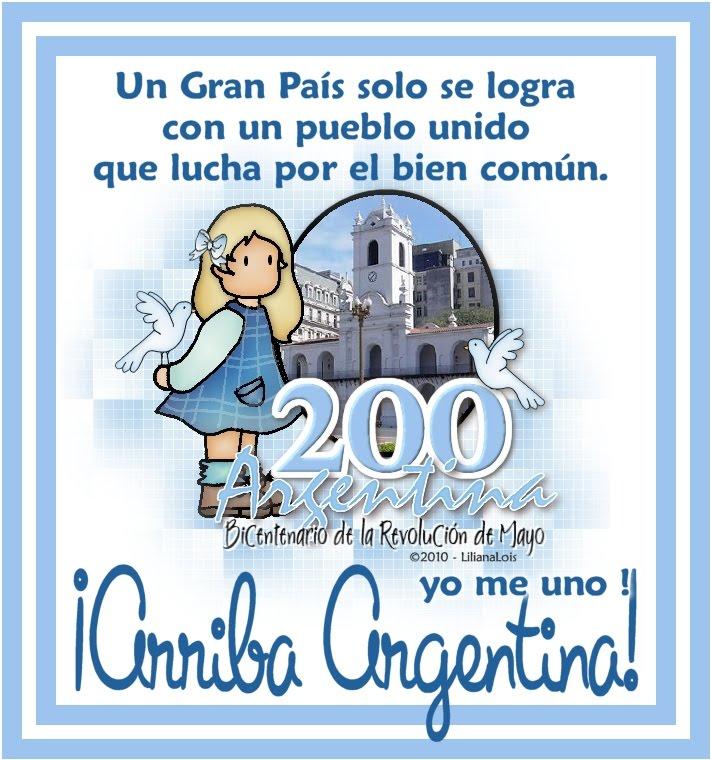 Diseños: Tarjetas para saludar en el dia del bicentenario argentino