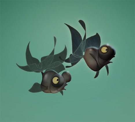 2 Fishes ( Photoshop / Traditional ).