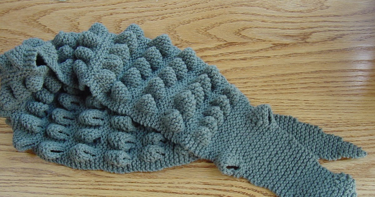 Cindys Fiberworks Scary Alligator Scarf