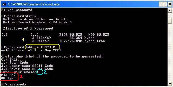 how to crack hard disk password protection