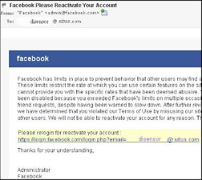 email facebook phising palsu