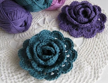 Virkatun ruusun ohje / Pattern for Crochet rose