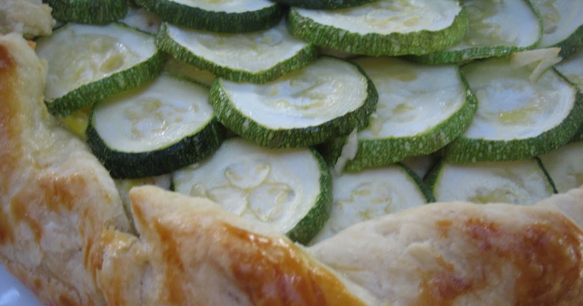 Zucchini and Ricotta Galette - The Gingered Whisk