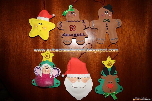 Nubecitas de romi adornos arbol de navidad - Decoracion navidad goma eva ...