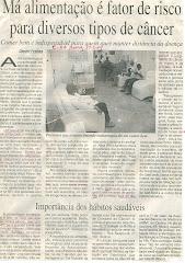 A MAIOR CAUSA DE MORTES: ALIMENTAÇÃO ERRADA
