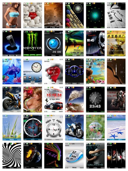 53 Themes | Nth Format | Size: 24.1 mb | Nokia S40 | Hf