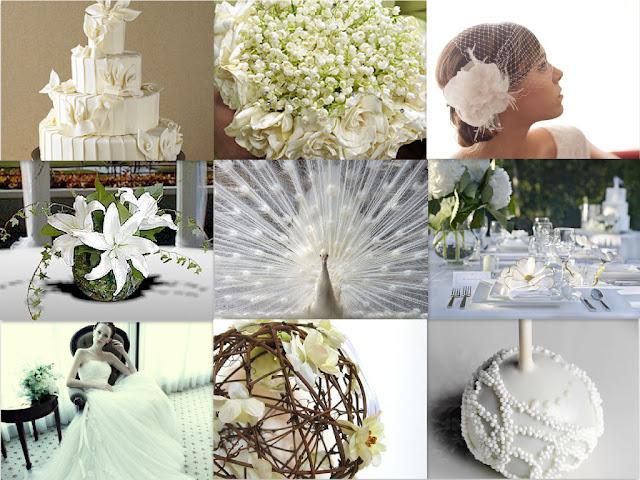 White peacock wedding dresses