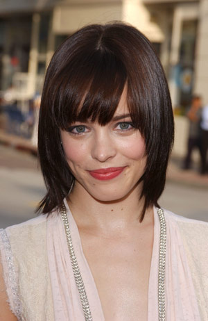 use long side swept bangs or