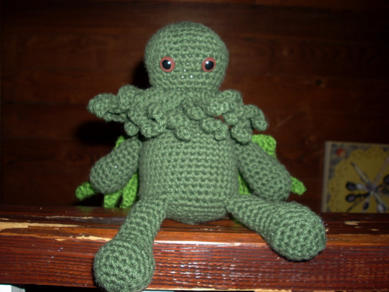 Cthulhu crochet and cousins cuddly cthulhu with free pattern bankloansurffo Choice Image
