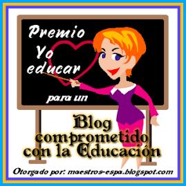 """PREMIO. """"Blog comprometido con la educación"""""""