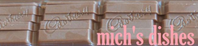 mich's dishes - feeding your baking addiction with my own. mmm, delicious.