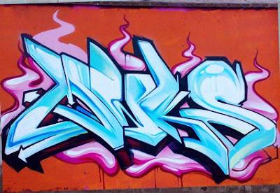 Graffiti Alphabet Letter N
