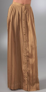 shakuhachi pleats long skirt