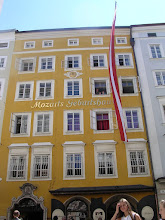 Mozart's birthplace in Salzburg