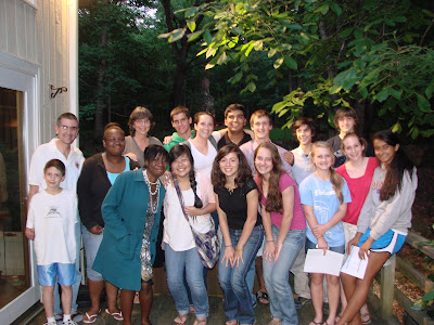 Students and teachers of the International Studies Academy of Carrboro High