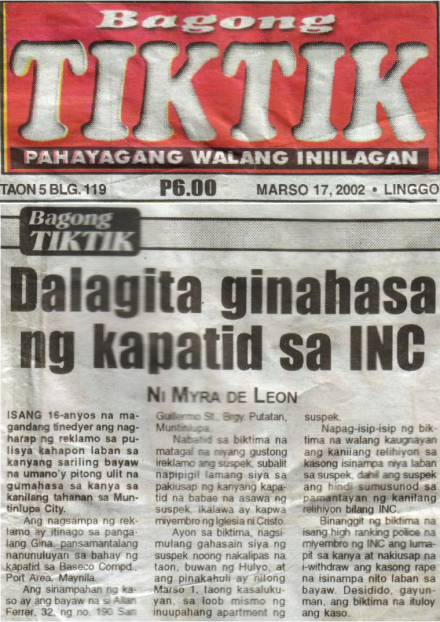 Iglesia Ni Cristo has THOUSANDS of convicted criminal members (robbers, rapists, murderers)