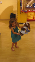 Sophia's first time at Build-a-Bear!