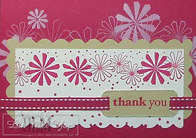 Yet another thank you card using Stampin' Up! supplies