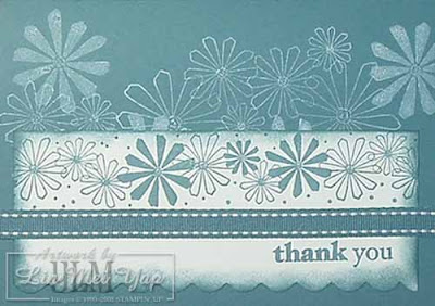 Thank you card using Stampin' Up! supplies