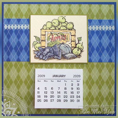 2009 Calendar using Stampin' Up! Supplies