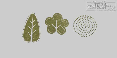 Stampin' Up! Trendy Trees foliage first