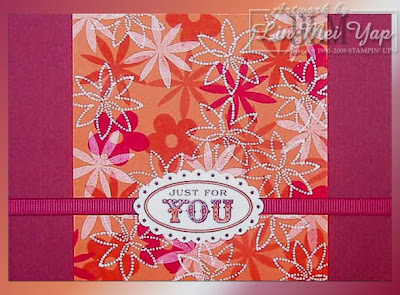 Card made using Stampin' Up! supplies from Spring Mini 2009