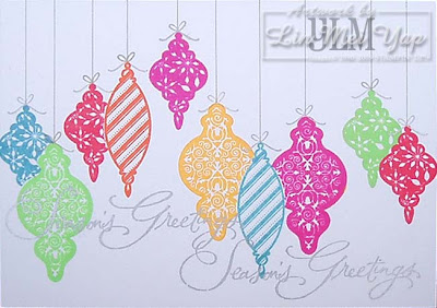 Christmas card using Stampin' Up! supplies