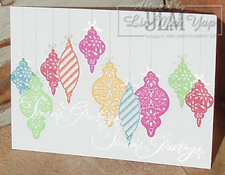 Christmas card at an angle to show Encore Silver
