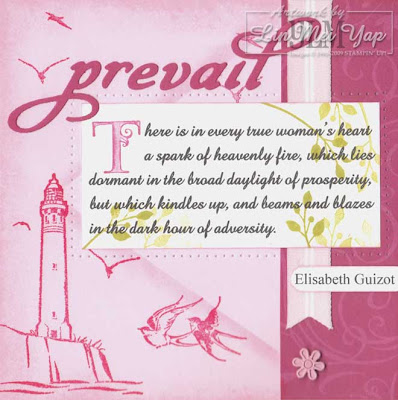 Page using Stampin' Up! supplies