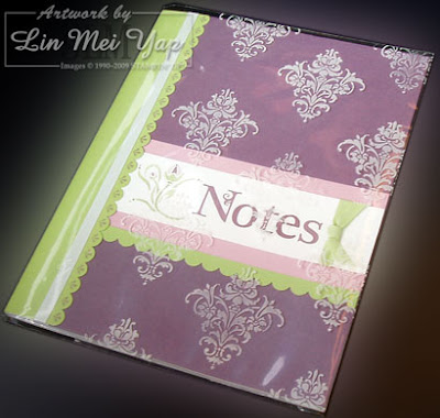 Notebook using Stampin' Up! supplies