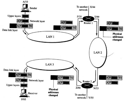IP addresses in a network model